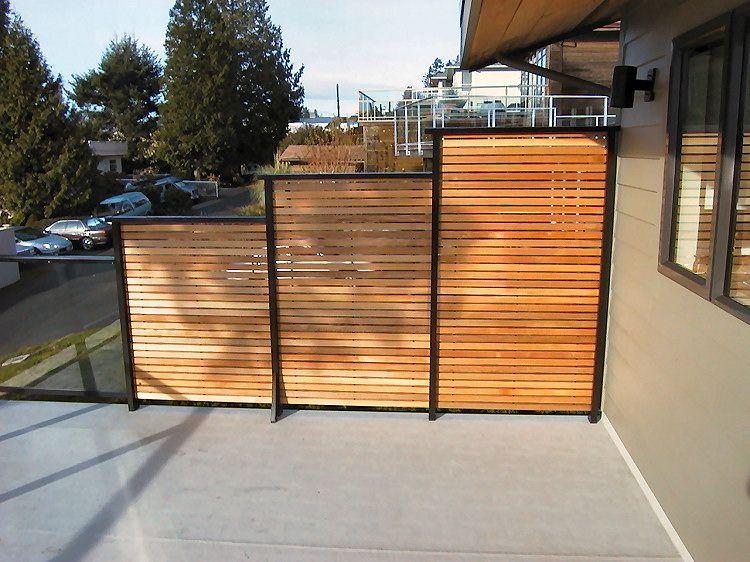 dek rail horizontal cedar slat semi privacy deck railing panels