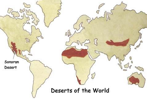 Map showing location of north america deserts of north america deserts of north america sonoran gumiabroncs Choice Image