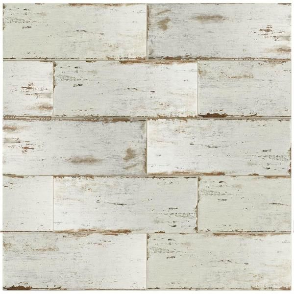 Merola Tile Retro Blanc 8-1/4 in. x 23-1/2 in. Porcelain Floor and ...