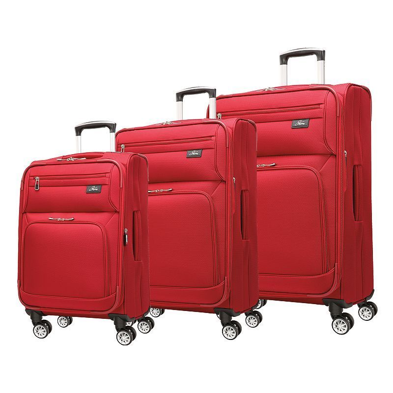 Skyway Sigma 5.0 3-Piece Spinner Luggage Set, Red