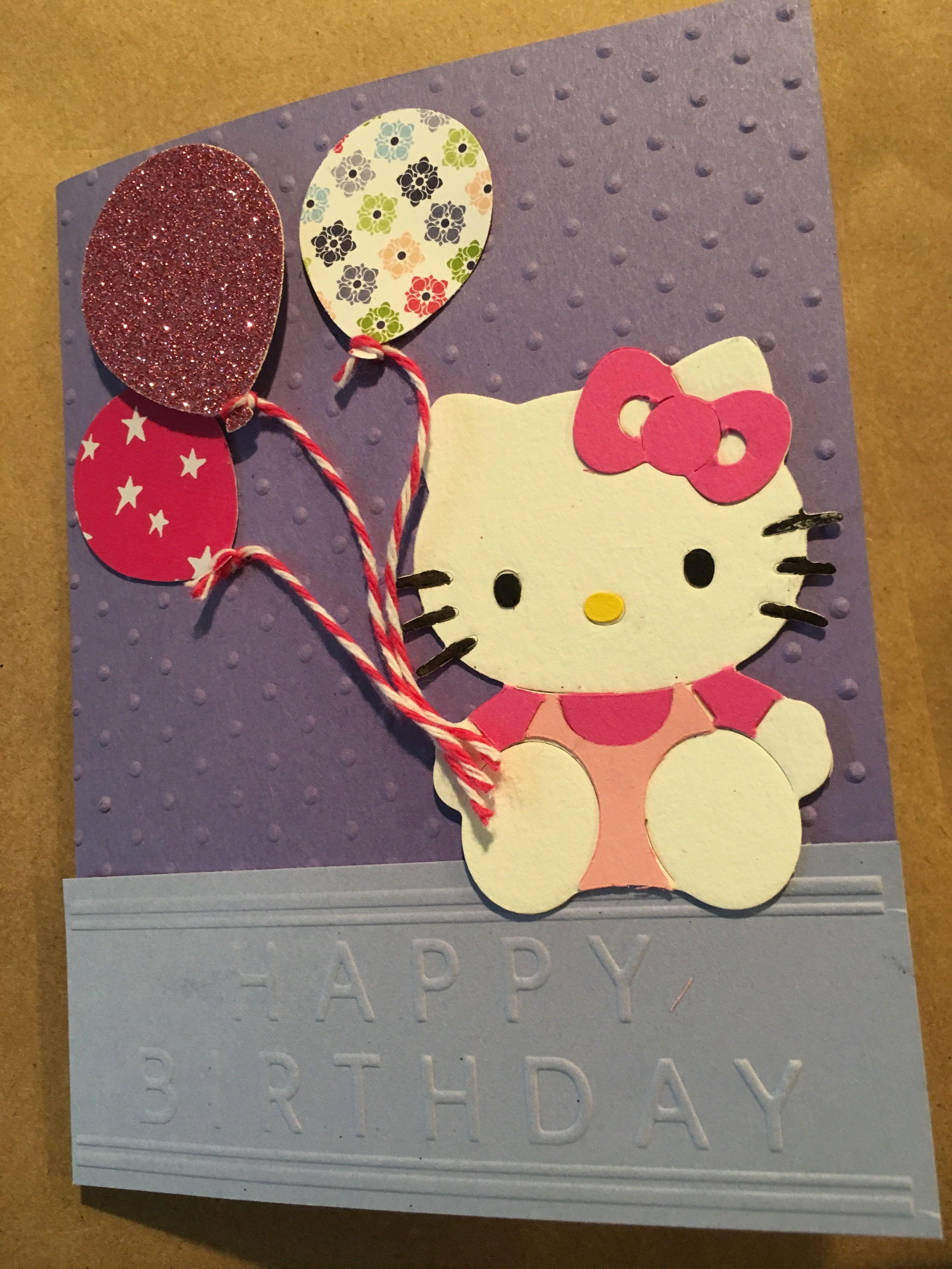 Hello Kitty birthday  Kids birthday cards, Hello kitty birthday