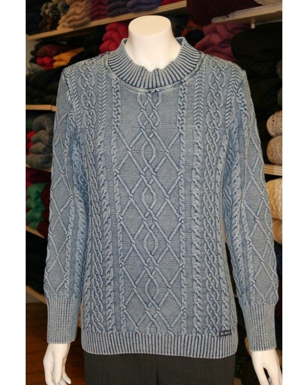 Blue Willi's Ladies' Cable Sweater. 100% pure cotton, it's machine ...