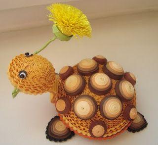 Quilled Turtle tutorial - by: Svetlana Belova of…