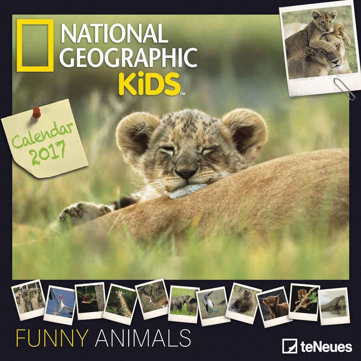 National Geographic Kids Funny Animals Calendar 2017