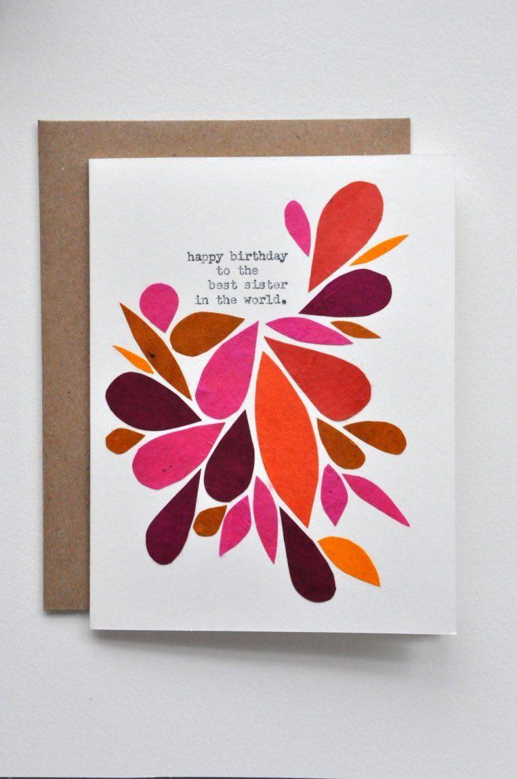 Abstraktes florales muster auf der geburtstagskarte kreieren geburtstagskarten pinterest - Geburtstagskarte basteln kinder ...
