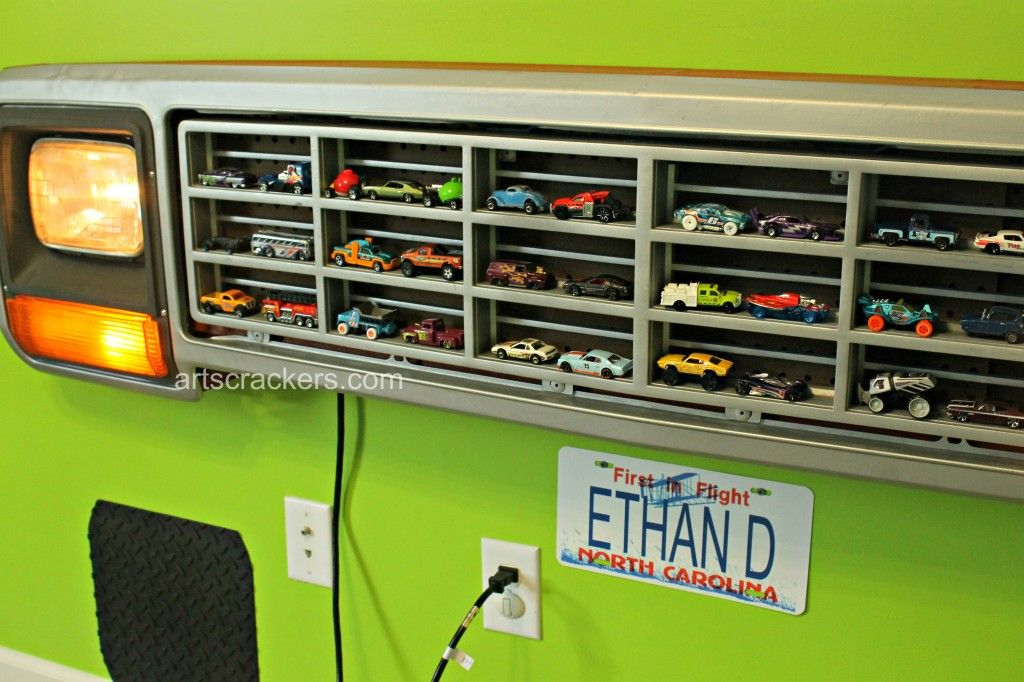 Diy Light Up Truck Grille Toy Car Organizer Boys Room
