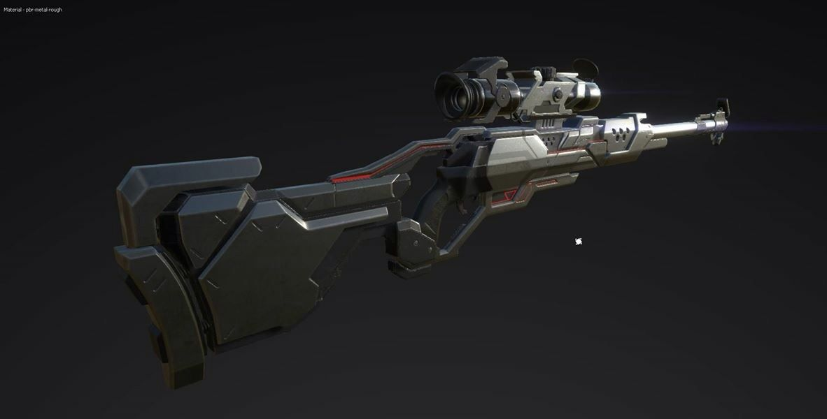 Rifle model and first time using substance painter