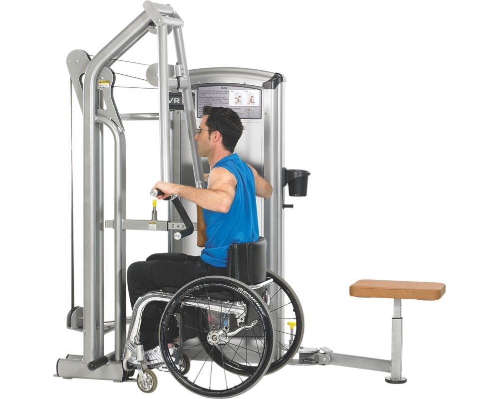 Total access row disabled accessible fitness equipment