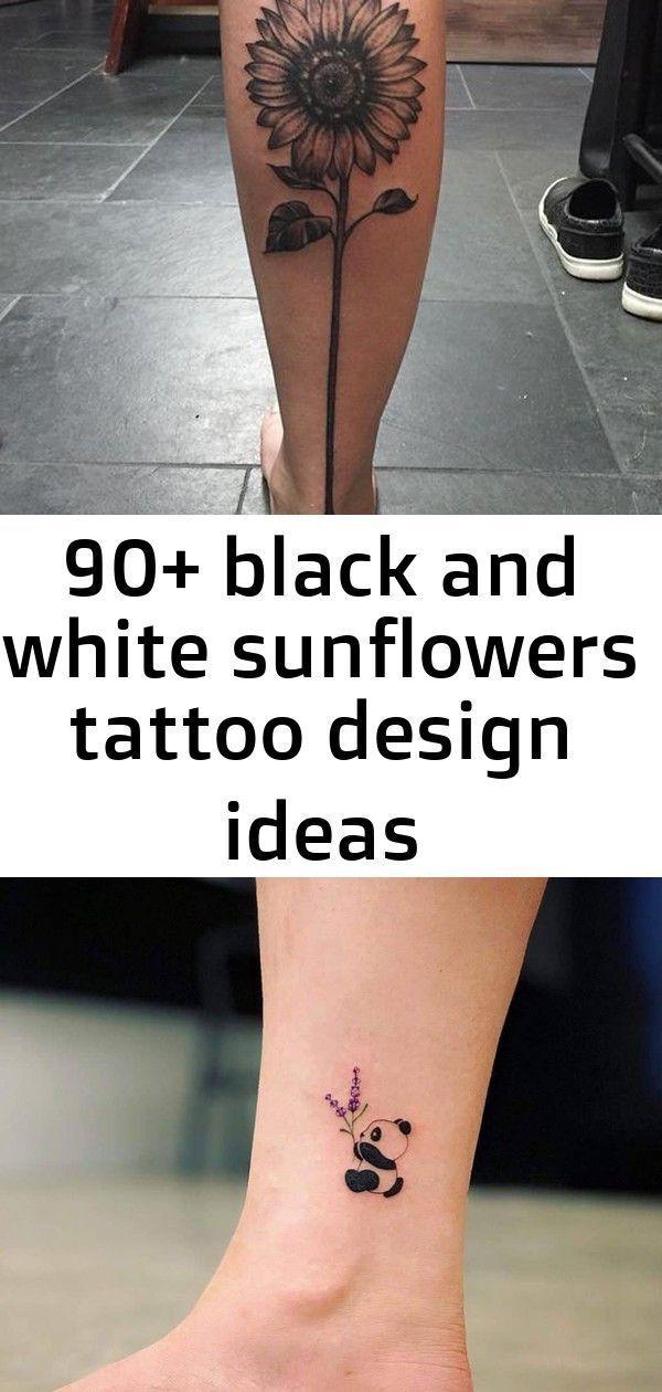 Photo of 90 black and white sunflowers tattoo design ideas Sunflower tattoo –  90 black a…