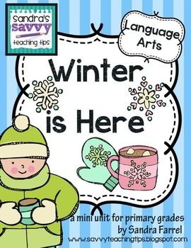Here's another version of my very popular Falling Leaves Mini Books.  This features Winter.  There are 4 mini books in this lesson. You can use them for different levels of reading in a K/1 class. These books focus on interpreting the text, copying and fine motor, signs of winter, and drawing and colouring skills  Winter is Here Language Arts Lesson by Sandra Farrell is licensed under a Creative Commons Attribution-NonCommercial-ShareAlike 3.0 Unported License.Based on a work at...
