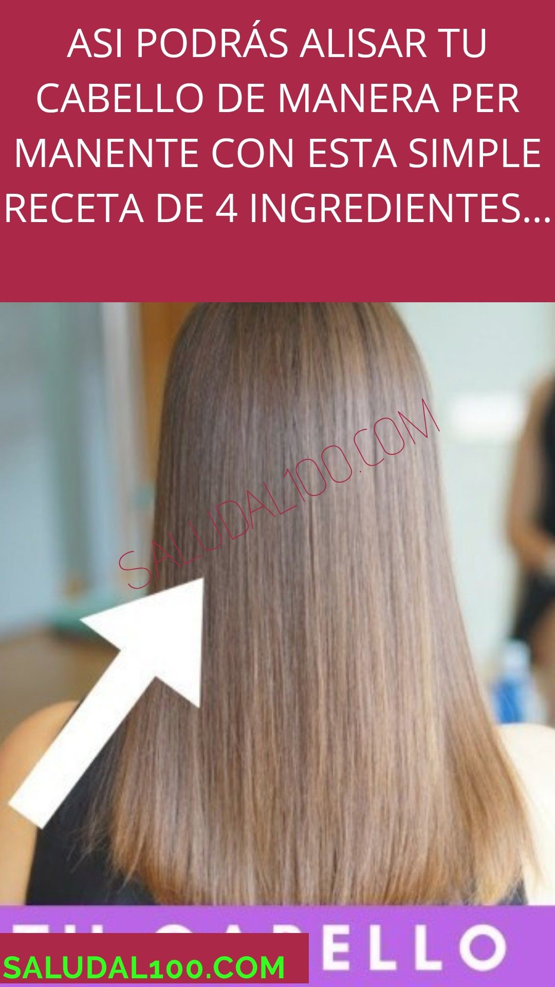 Asi Podrás Alisar Tu Cabello De Manera Permanente Con Esta Simple Receta De 4 Ingredientes Hair Styler Hair Treatment Beauty Tips For Face