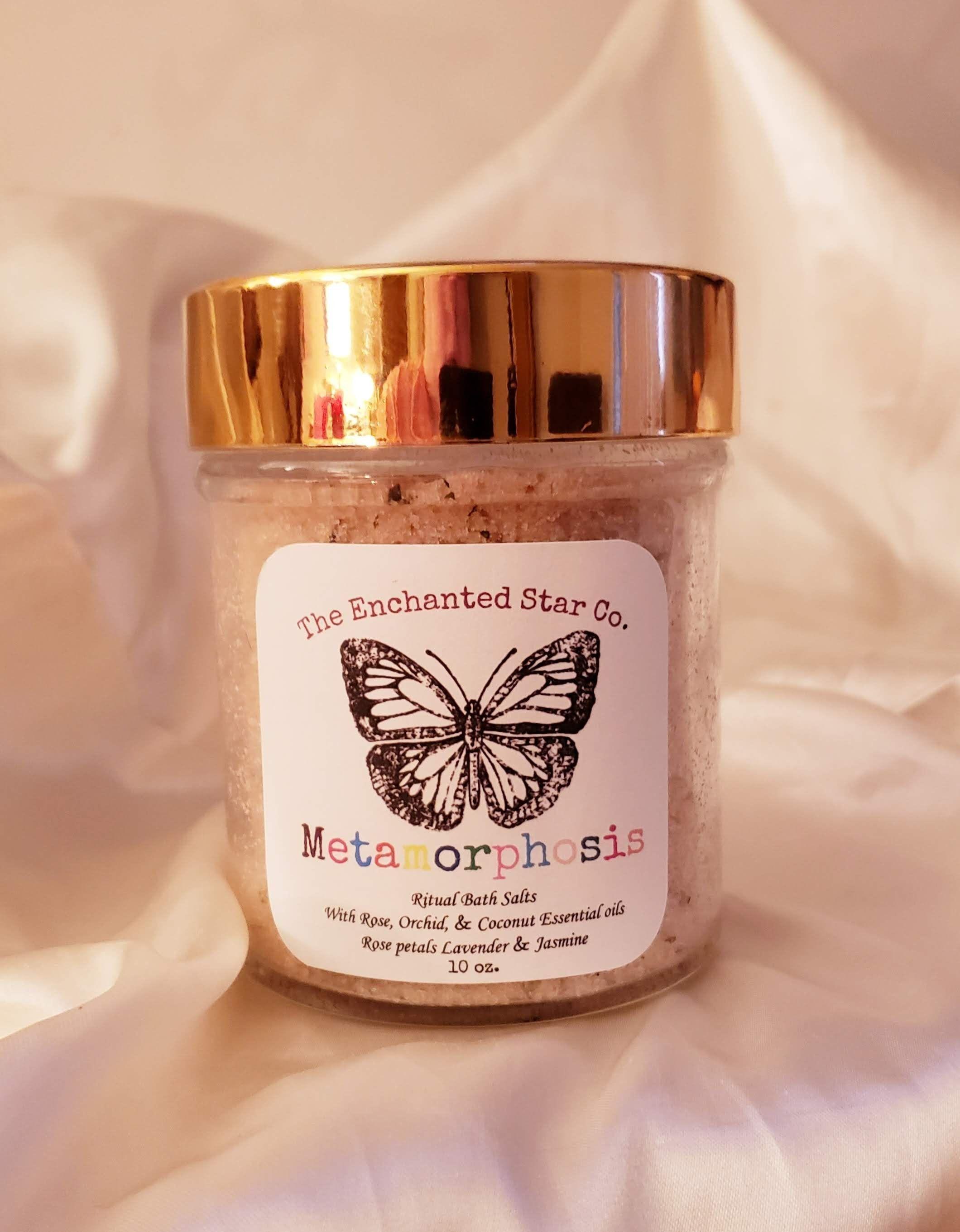 METAMORPHOSIS // Ritual Bath Salts // Rose // Coconut // Jasmine // Lavender // ... #newmoonritual