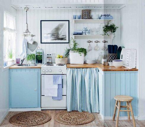 cocina-decorada-en-color-azul-y-blanco   puerto cayo   Pinterest ...