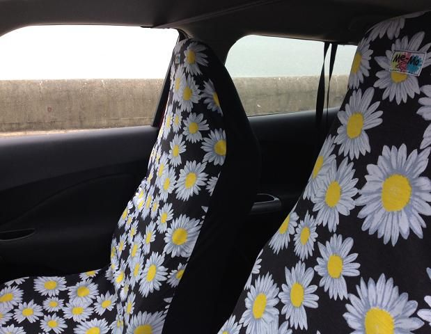 BMW Steering Wheel Cover >> AIRBAG-FRIENDLY CAR SEAT COVERS: WHITE DAISY IN THE BLACK   Hippie car, Car accessories, Car ...