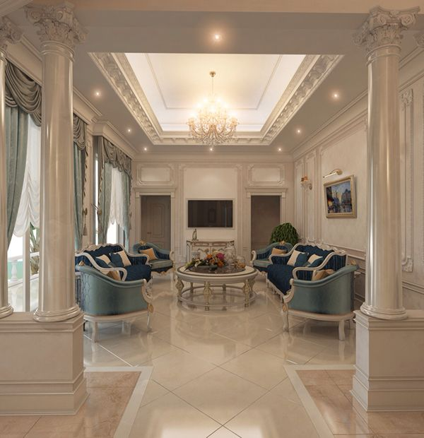 Living Room On Behance Luxurious Bedrooms Interior Design Dubai Interior Design Living Room