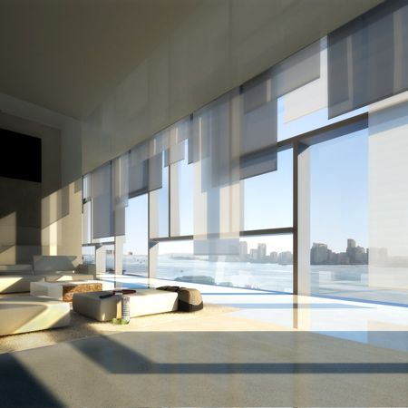 Interior of the 100 11th Avenue, a 23-storey apartment ...
