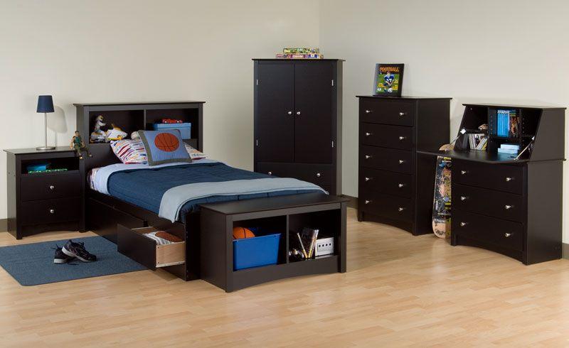 Augusta Kids Storage Platform Bed Set Bedroom Furnishings Bed