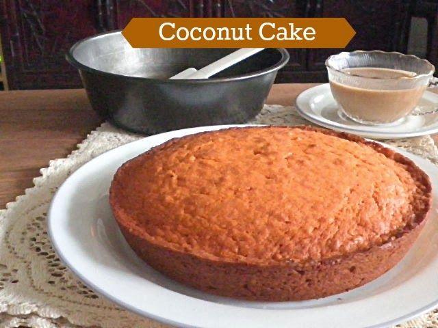 TREAT & TRICK: COCONUT CAKE how is it orange