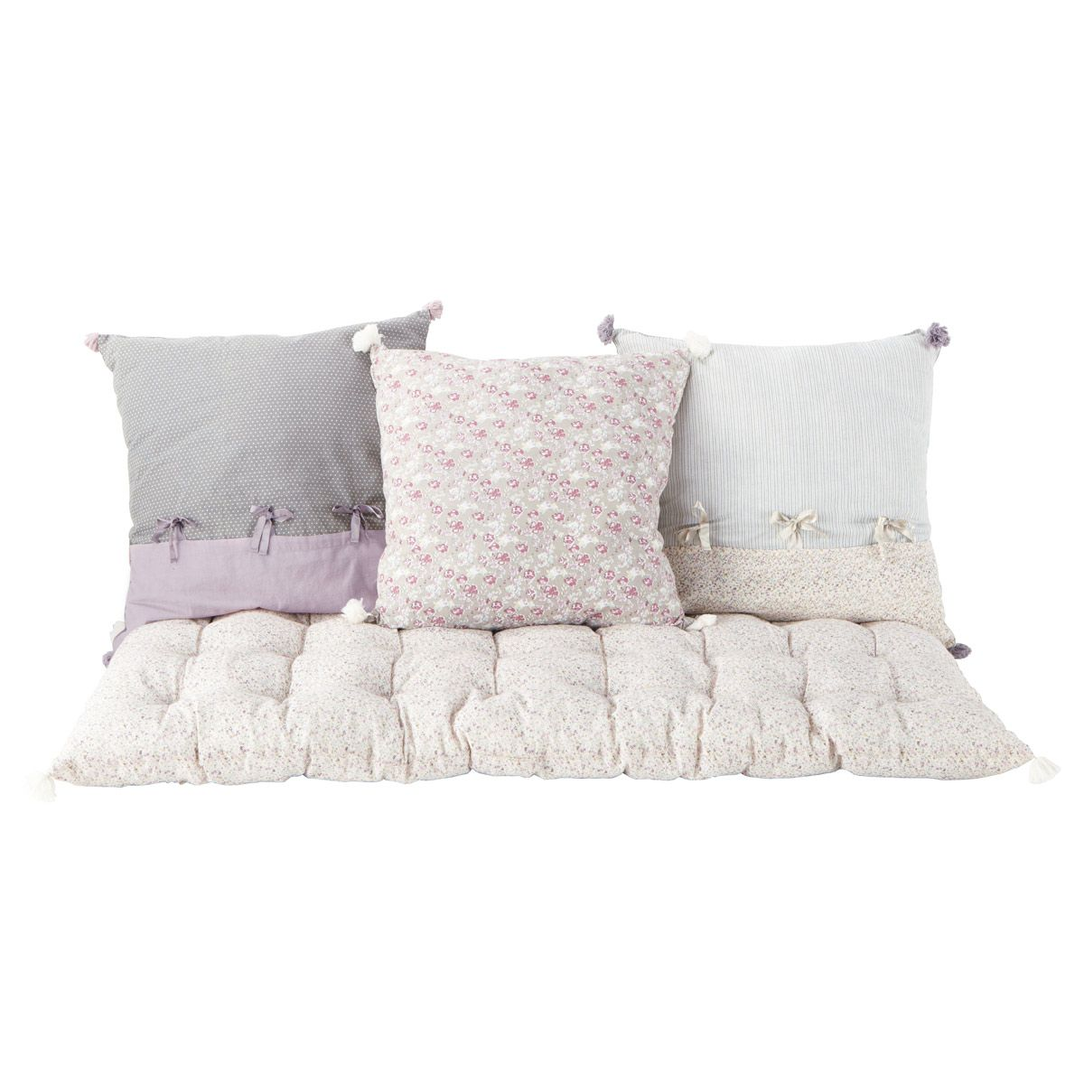Set de 3 cojines y colchón PIMPRENELLE