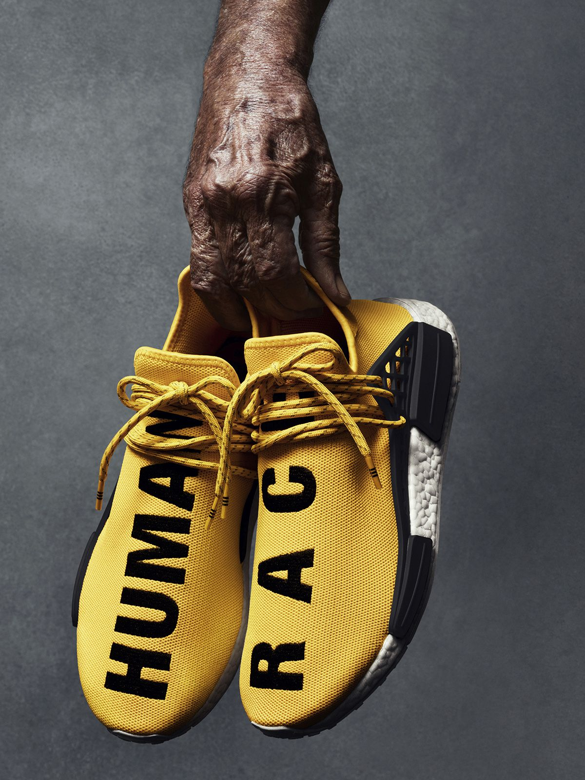 Pharrell Spotted In New Pharrell x adidas NMD Human Race
