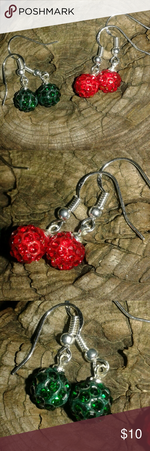 Crystal & Silver Disco Ball Earrings Small disco ball earrings. NWOT.  You get two pairs. Made of crystal, clay,  & .925 Silver. (Stamped) Jewelry Earrings