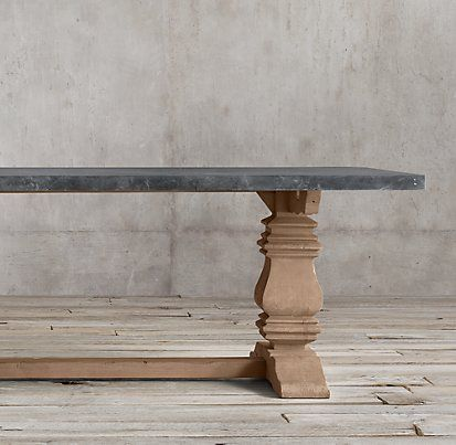 Salvaged Wood Marble Trestle Natural And Grey Marble Rectangular Metal Dining Room Table Marble Tables Design Rectangular Dining Table