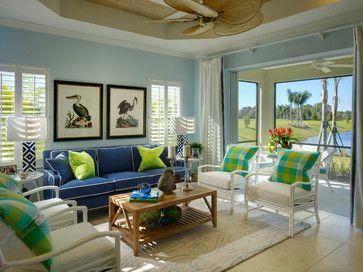 Tropical Living Room Tropical Living Room Tampa Porter