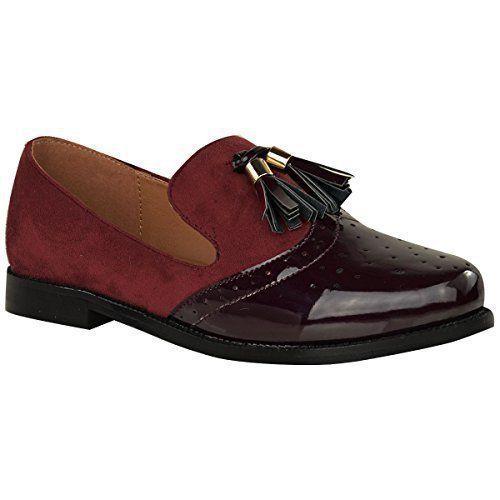 À École Plat Vintage Bureau Glands Chaussures Femmes Mocassins XxBOwa