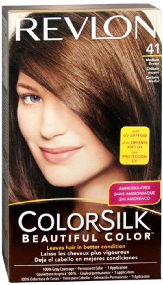 Revlon Colorsilk Hair Color 41 Medium Brown 1 Each Pack Of 5