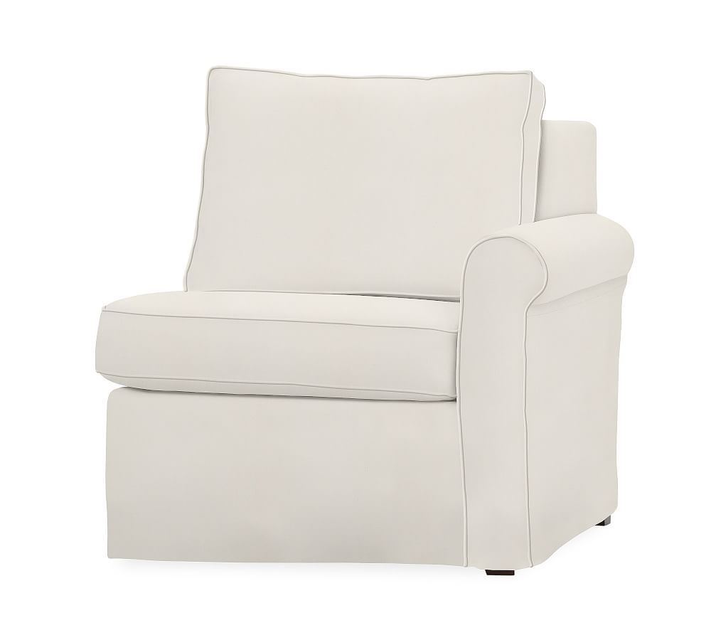 Tremendous Cameron Roll Arm Right Arm Loveseat Slipcover Washed Linen Download Free Architecture Designs Sospemadebymaigaardcom