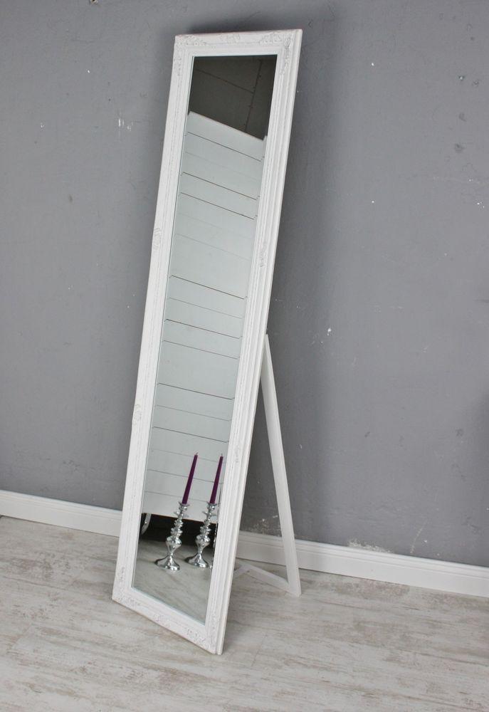 Standspiegel Weiss Antik Gross 180cm Holz Wandspiegel Barock