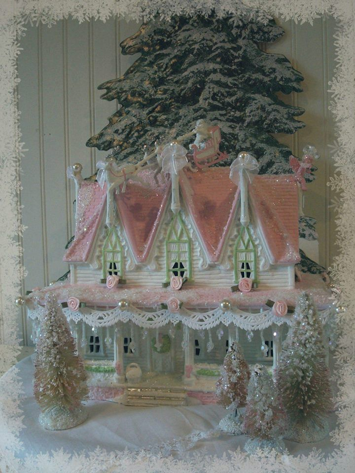 Pink Victorian Christmas Images