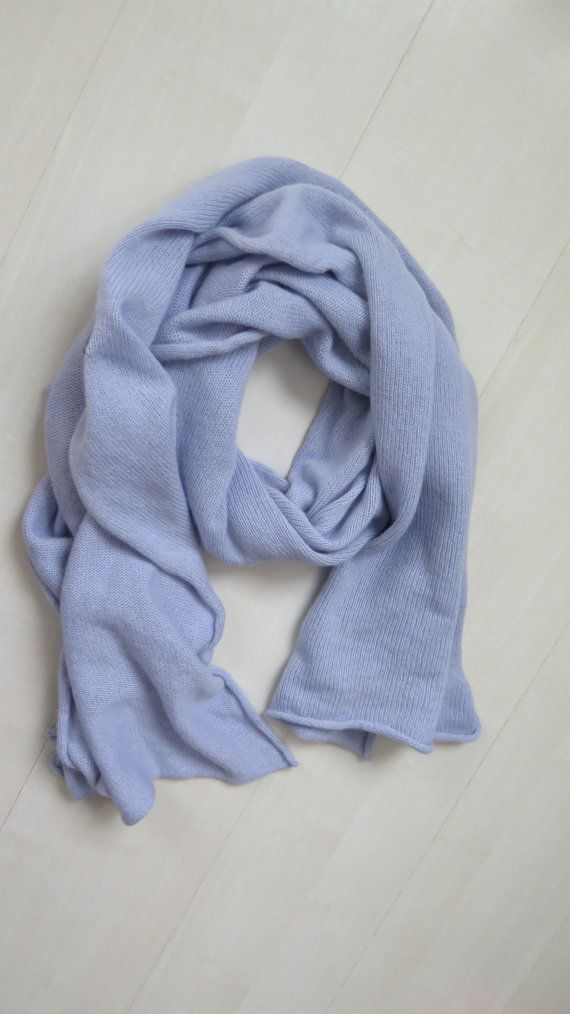 42c4221f2 light blue cashmere scarf Cashmere scarf merino by YarnMagicLt Pashmina  Scarf, Wool Scarf, Blanket
