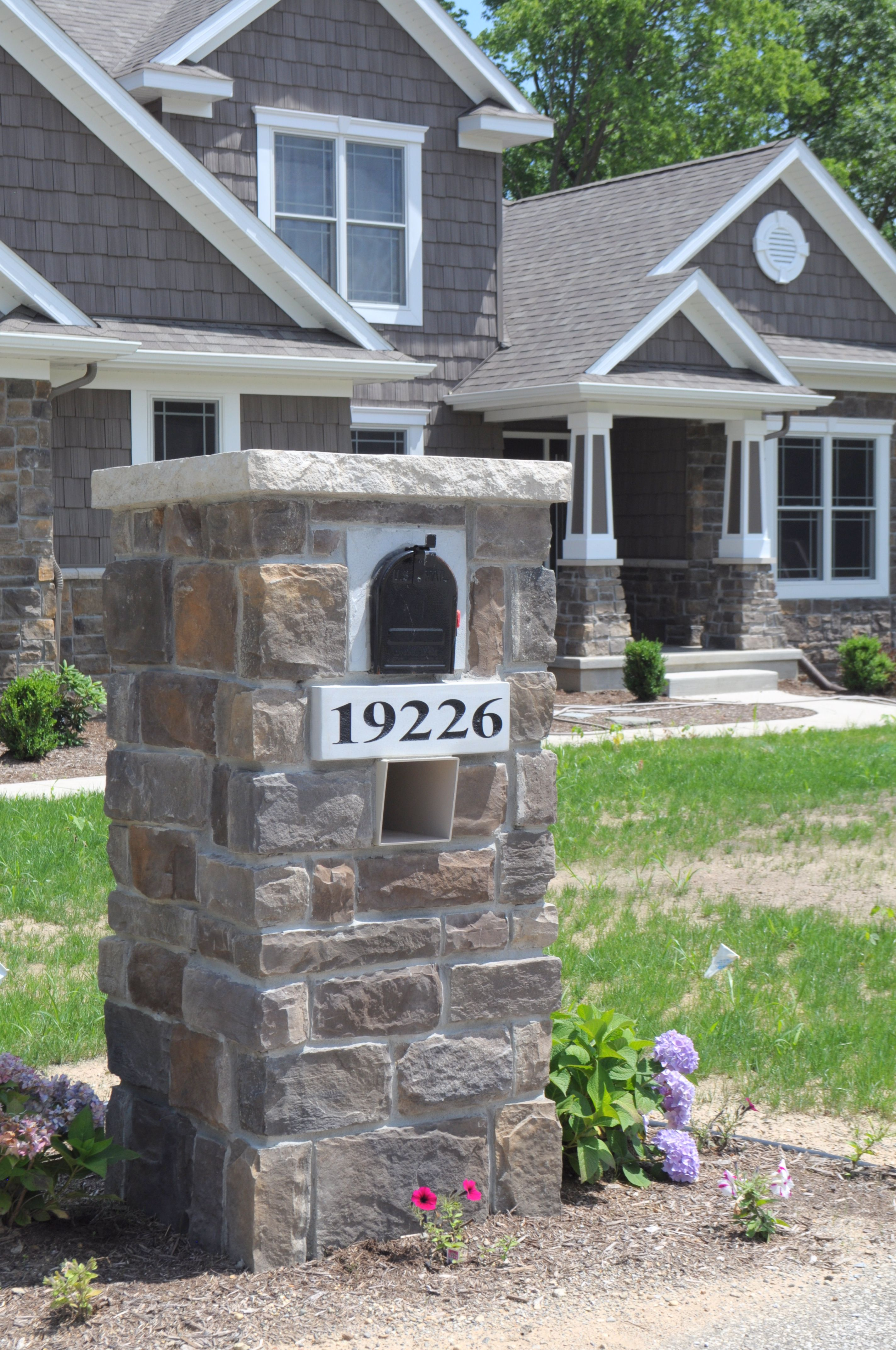 Stone Masonry Mailbox with Engraved Address Block Arkansas Ashlar ...