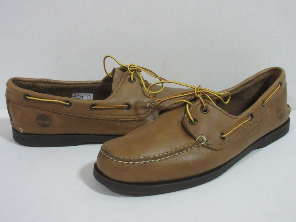 a10c34b90b40 Timberland BRIG 2-EYE BOAT BOAT Shoes Leather Sz.10.5 MED-BROWN  Timberland   BoatShoes