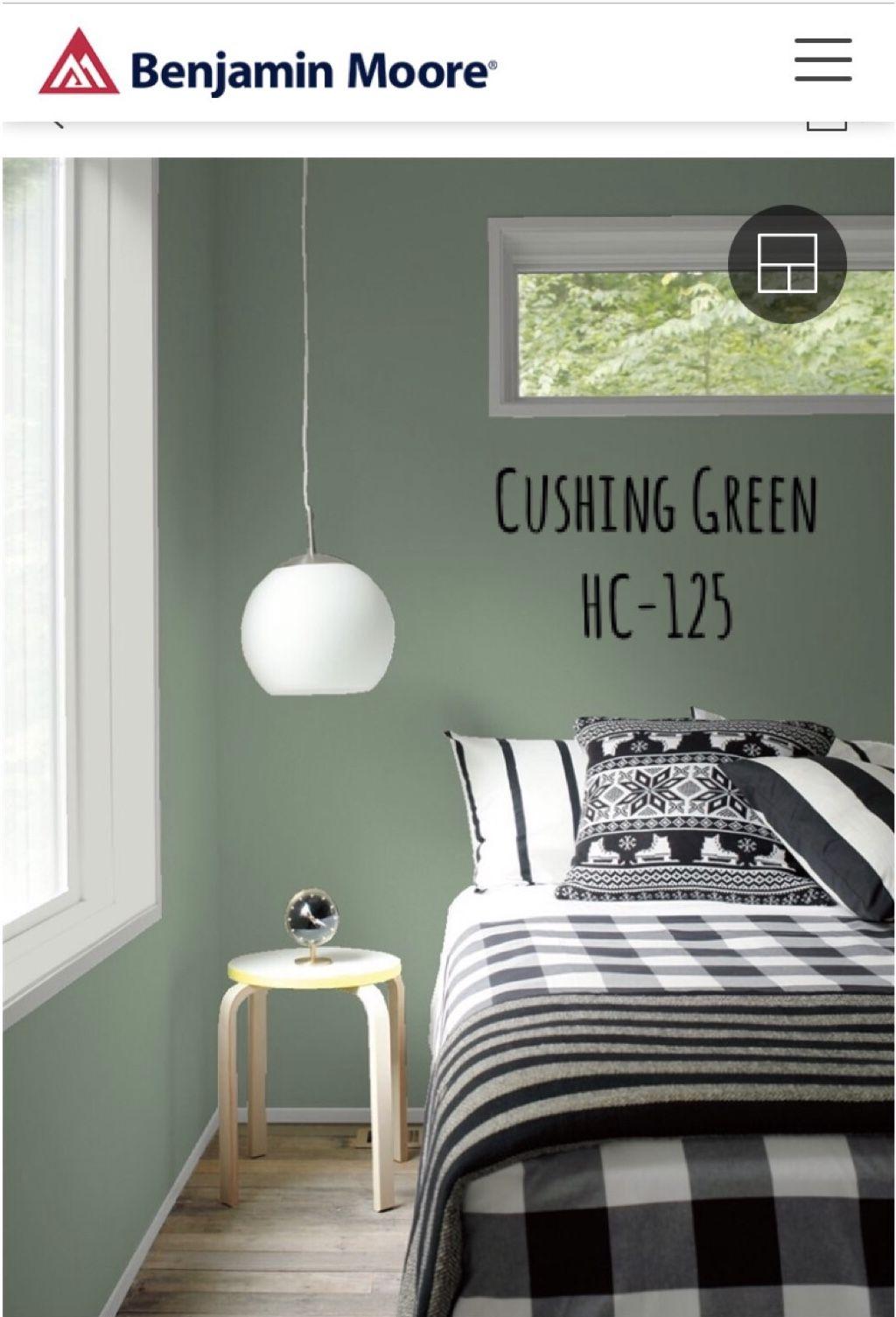 Cushing Green Benjamin Moore Bathroom paint colors