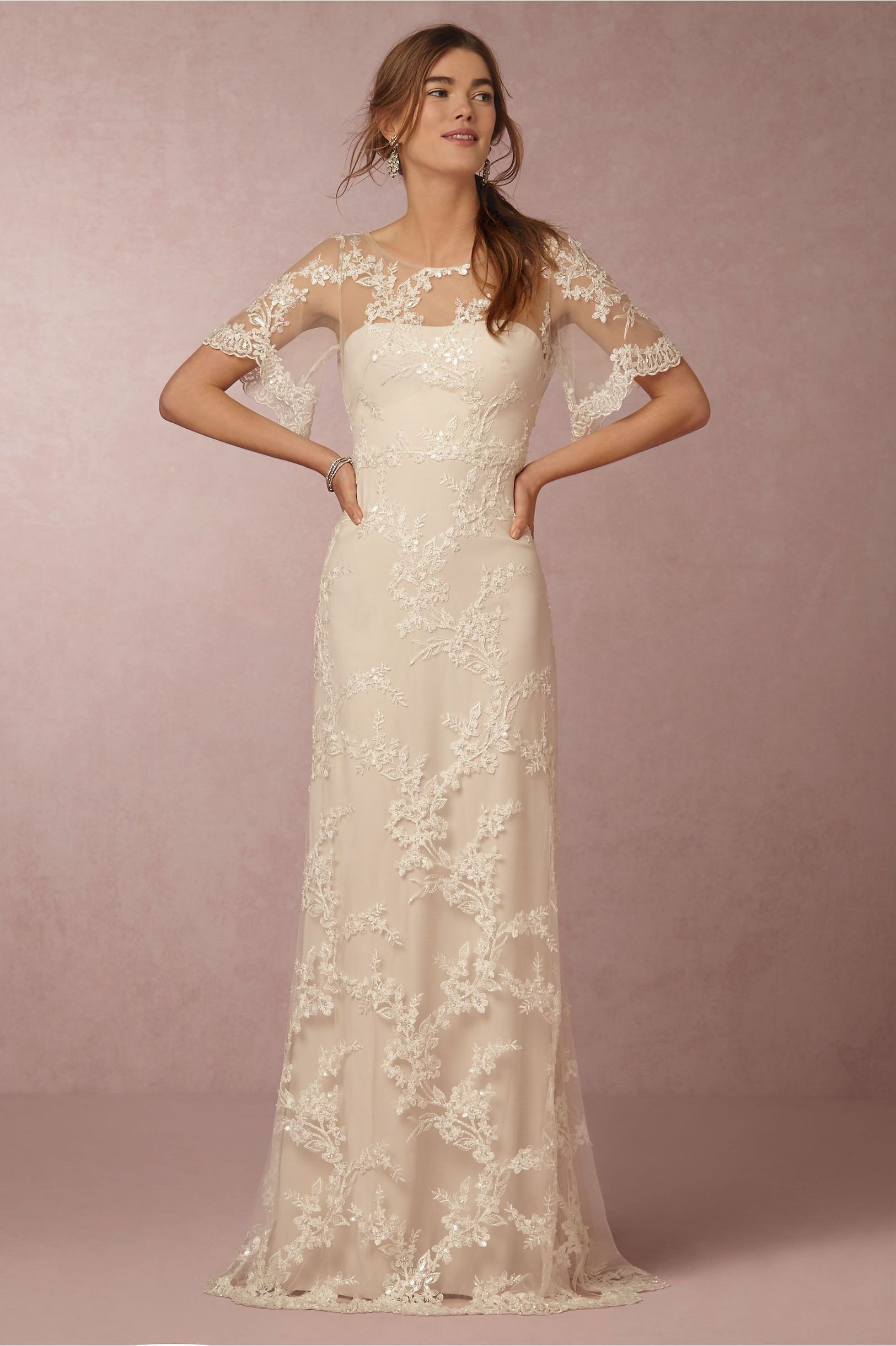 90f4af31180a BHLDN Estella Gown in Bride Wedding Dresses Sleeves at BHLDN ...