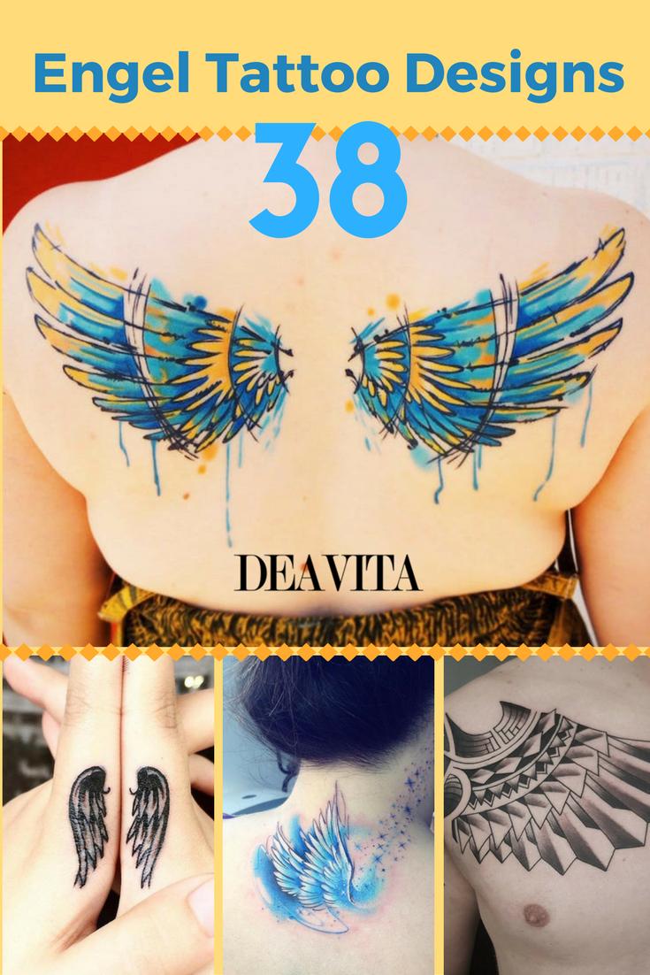 Engel Tattoo Designs mit Bedeutungen – 38 Ideen & Vorlagen Zu den beliebtesten Motiven für Tattoo Designs gehören Engel, Schutzengel, Putten und Engelsflügel.