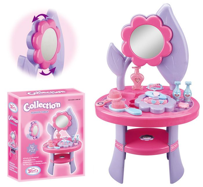 Charming Free Shipping Birthday Gift Children Girl Toy Beauty Princess Dressing  Makeup Playing Series Table Vanity Mirror