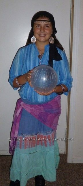 Coolest Homemade Last-Minute Gypsy Costume ...This website is the Pinterest of costumes  sc 1 st  Pinterest & Coolest Homemade Last-Minute Gypsy Costume | Pinterest | Costumes ...