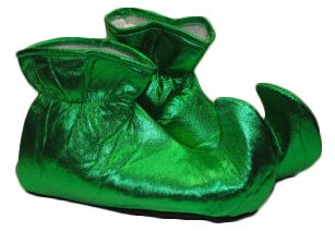 www.privateislandparty.com Green Elf Shoe Covers $12.99 The Green Elf Shoes Covers are perfect for your Elf, Pixie,Fairy and Santa Claus Costume. Also great for Leprechaun Costume.