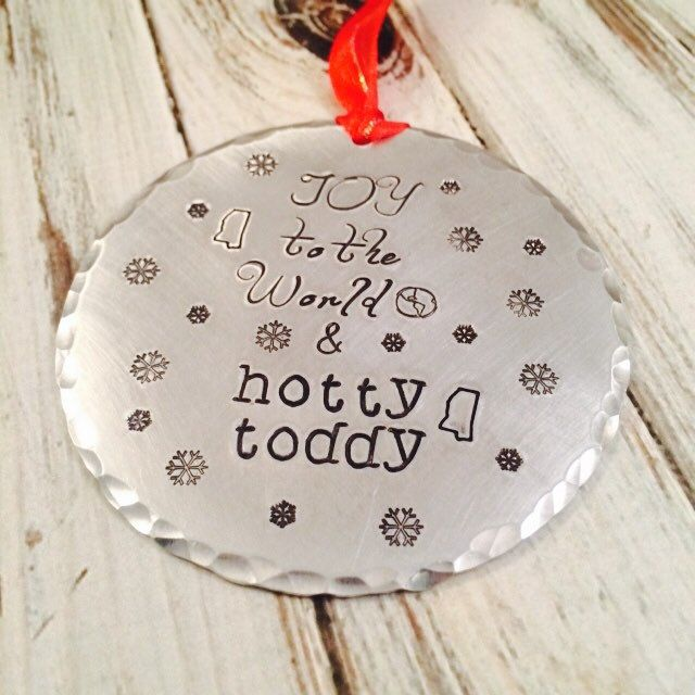 Personalized Christmas Ornament - Joy to the World and Hotty Toddy
