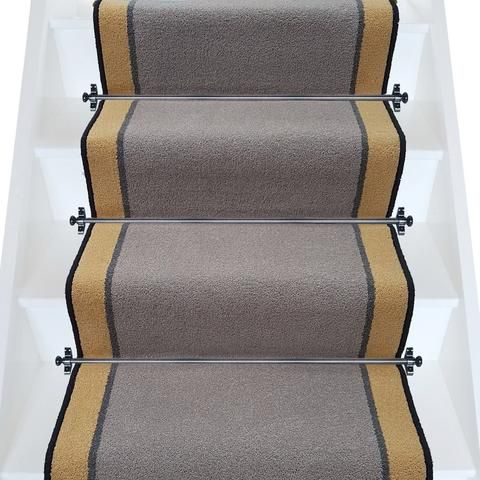 Best Brintons Carpets Bell Twist Pewter Smoke Luxor Gold Stair 400 x 300