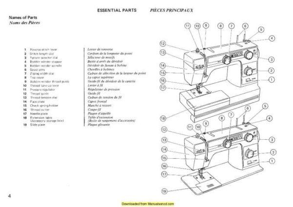 Janome New Home L352 L353 Sewing Machine Instruction
