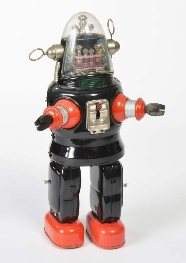 Old fashioned robot toys 95