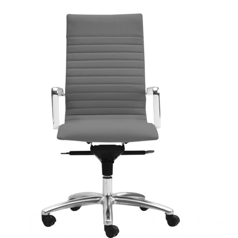 Zetti Leather High Back Office Chair In White Charcoal Grey And Black Leather Grey Leather Chair Office Chair Leather Office Chair