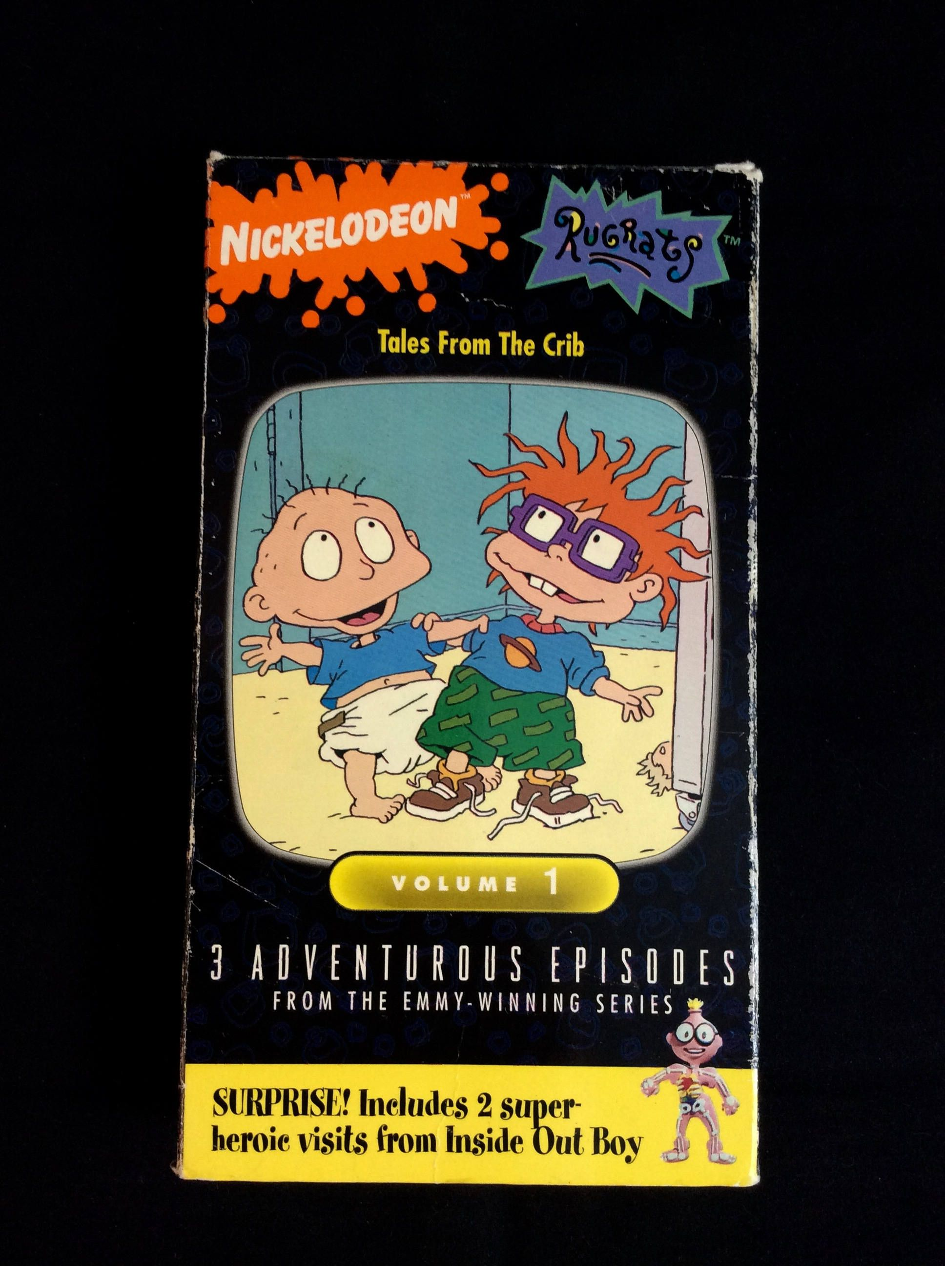 Rugrats Tales From The Crib Volume 1 1993 Nickelodeon Orange Vhs Tape 90s Cartoons By Thetimetravelingpug On Etsy