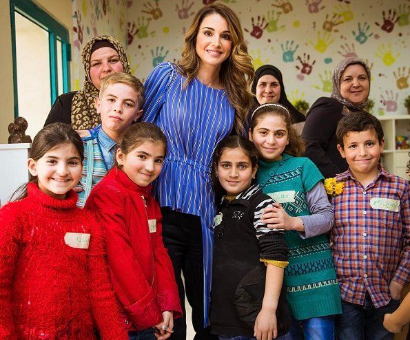 Image result for queen rania child and women centre