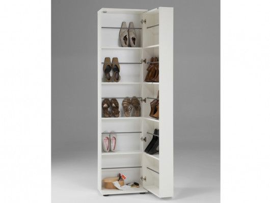 Meuble A Chaussures Walker 1 Porte 1 Miroir Blanc Meuble Chaussure Miroir Blanc Miroir