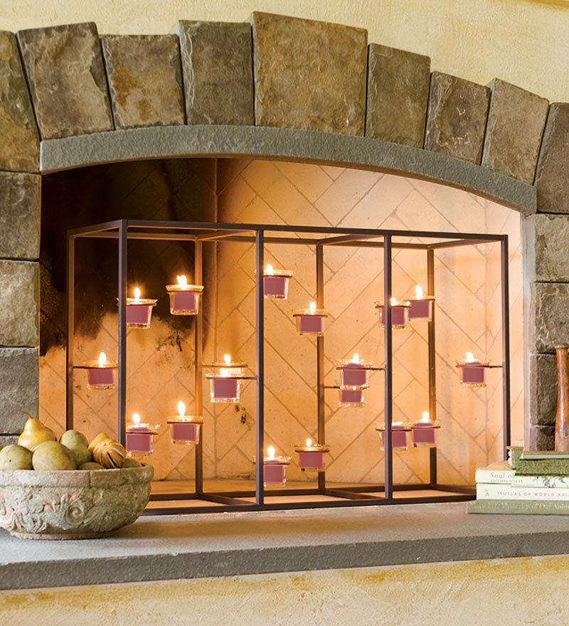 Fireplace Candle Holders | Fireplace | Pinterest | Fireplace ...